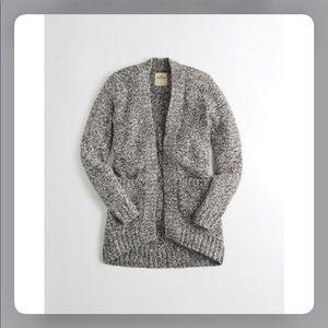 Hollister Gray Slouchy Cardigan Sweater